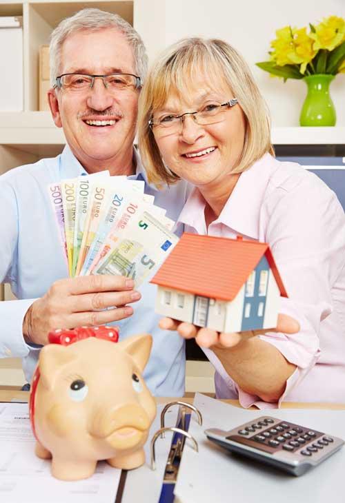Ein glückliches Paar dank Immobilienrente